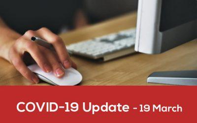 Covid-19 Update – 19 March