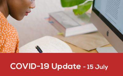 Covid-19 Update – 15 July